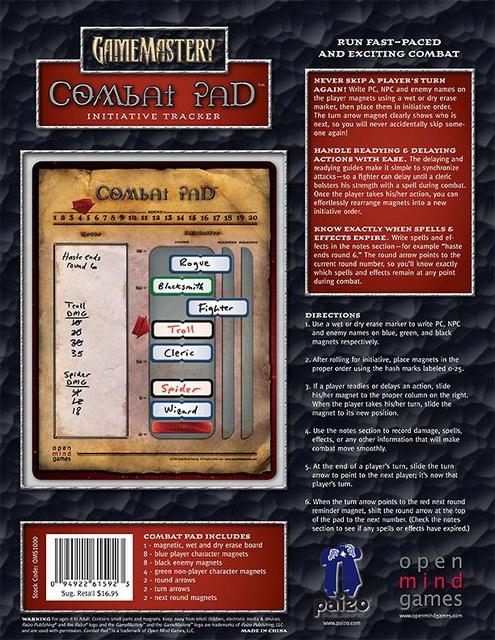 GameMastery Combat Pad