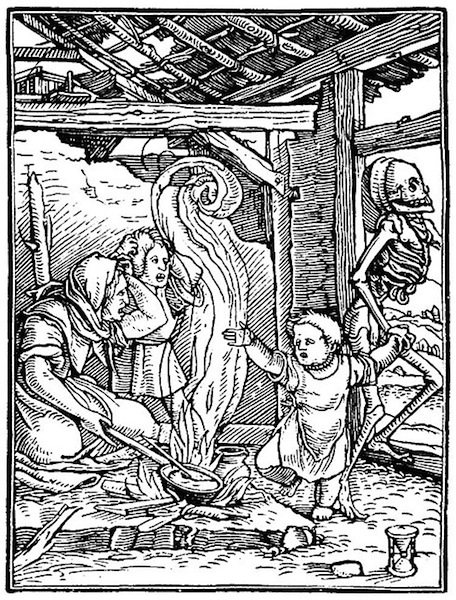 "Hans Holbein ""The Dance of Death Woodcut"""