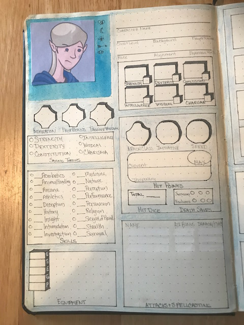 Game Journaling: Character Sheets for D&D 5e and